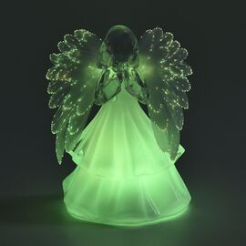 Xmas Decoration - Angel Praying Colour Changing Lamp (Size 15.5x10 Cm) - White (3xAAA Battery not In