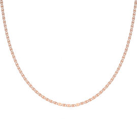Italian Made Rose Gold Overlay Sterling Silver Valentino Necklace (Size 20)