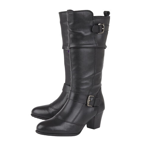 Lotus Miriam Leather Mid Calf Boots (Size 5)