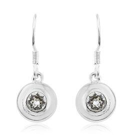J Francis Crystal from Swarovski - White Crystal (Rnd) Hook Earrings in Sterling Silver, Silver wt 3.46 Gms.
