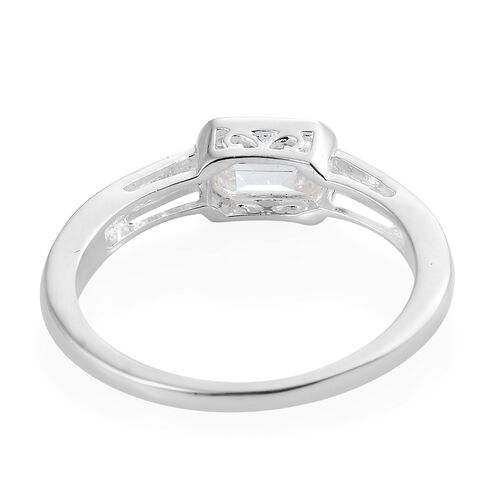 J Francis - Sterling Silver (Oct) Ring Made with SWAROVSKI ZIRCONIA