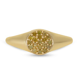 Yellow Diamond Ring in Yellow Gold Overlay Sterling Silver 0.20 Ct.
