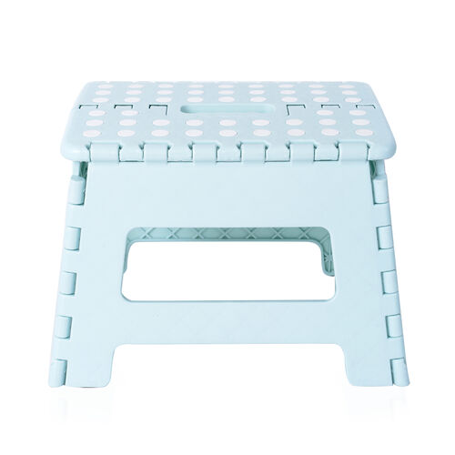 Dotted Foldable Step Stool with Handle