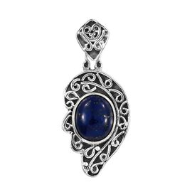 Artisan Crafted Lapis Lazuli Pendant in Sterling Silver 6.200 Ct.
