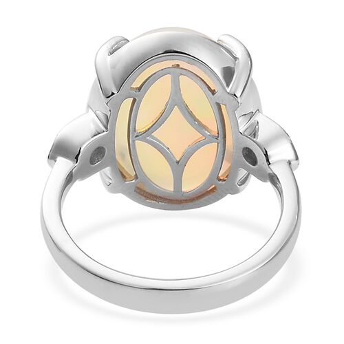 RHAPSODY 950 Platinum AAA EthiopianWelov Opal and Diamond Ring  6.15 Ct, Platinum wt. 9.31 Gms