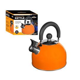 2L Stainless Steel Kettle - Orange (Size 16x18cm)