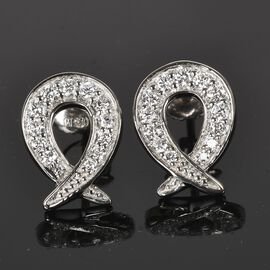 RACHEL GALLEY 0.50 Ct Diamond Stud Cluster Earrings in 950 Platinum IGI Certified VS EF
