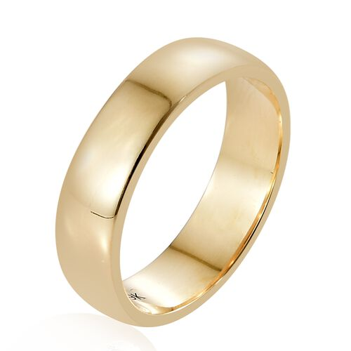5mm Plain Wedding Band Ring in 9K Yellow Gold 4.11 grams