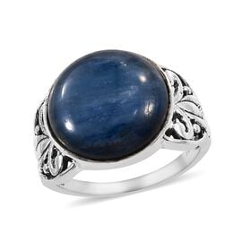 14.27 Ct Moon Kyanite Solitaire Ring in Sterling Silver