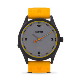 KYBOE Evolve Collection Bright Marigold Slimline 41MM LED Watch- 100M Water Resistance