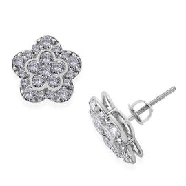 RHAPSODY 950 Platinum IGI Certified Diamond (Rnd) (E-F/VS) Stud Earrings (with Screw Back) 1.50 Ct.