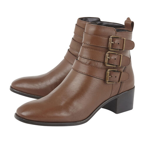 Lotus Mathilda Ladies Leather Ankle Boots (Size 4) - Tan