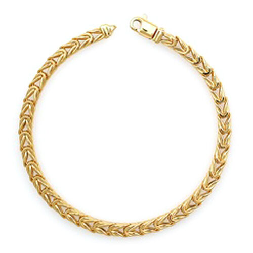 Limited Edition- 9K Yellow Gold Foxtail Bracelet (Size 8), Gold wt. 9.10 Gms.