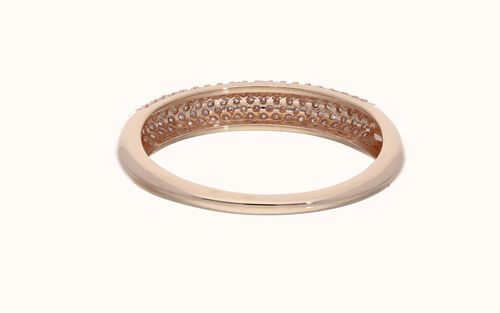 DOORBUSTER DEAL Exclusive Edition 9K Rose Gold Natural Pink Diamond (Rnd) Ring 0.500 Ct.