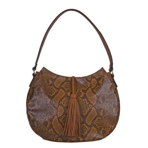 Bulaggi Collection - Quince Hobo Shoulder Bag (Size 27x35x11cm) - Camel