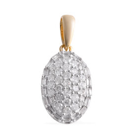 9K Y Gold SGL Certified Diamond (I3/G-H) Pendant 0.50 Ct.