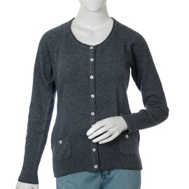 80% Lambs Wool Navy Colour Cardigan