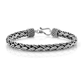 Royal Bali Collection Sterling Silver Tulang Naga Bracelet (Size 8), Silver wt 33.54 Gms.