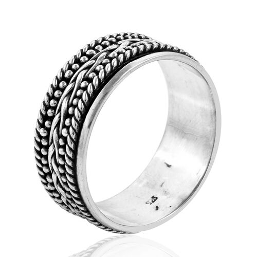 Royal Bali Collection Sterling Silver Stackable Ring, Silver wt 5.11 Gms.