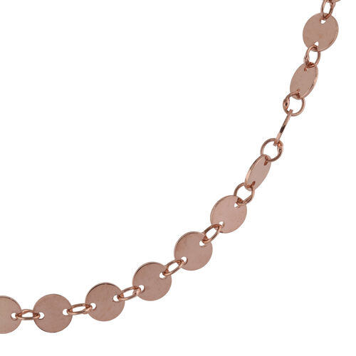 Rose Gold Overlay Sterling Silver Necklace (Size 35), Silver wt 12.23 Gms