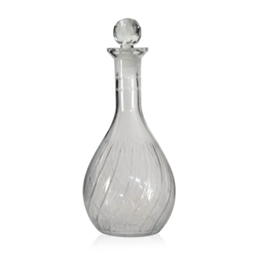 (Option 2) Home Decor - Clear Glass Cognac Shape Decanter with Stopper ( 750 ml.)