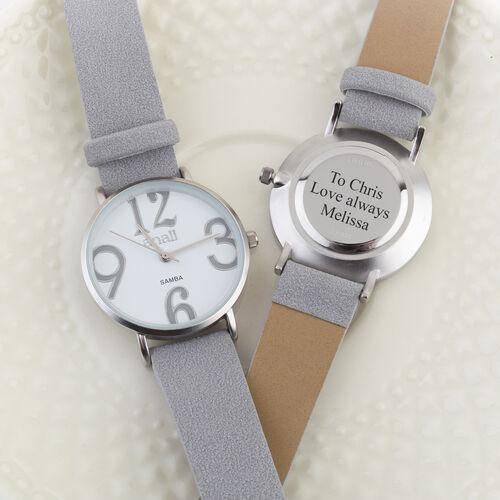 Personalised Engravable ANAII Samba Grey Watch