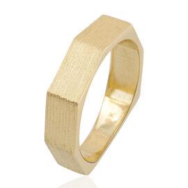 JCK Vegas Octagon Band Ring in 9K Gold 2.62 grams