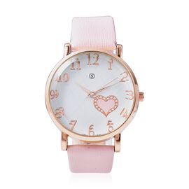 STRADA Japanese Movement Water Resistance Watch in Rose Tone - Light Pink