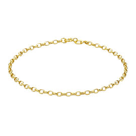 Biggest Hatton Garden Close Out - 9K Yellow Gold Oval Belcher Bracelet (Size 7.5)