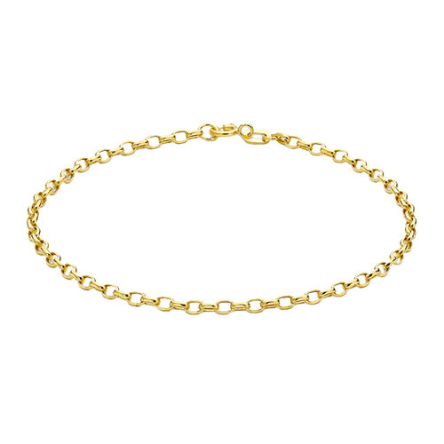 Biggest Hatton Garden Close Out - 9K Yellow Gold Oval Belcher Bracelet (Size 7.5)