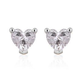 ILIANA 1/2 Carat Diamond IGI Certified Heart Stud Earrings in 18K Gold (with Screw Back)