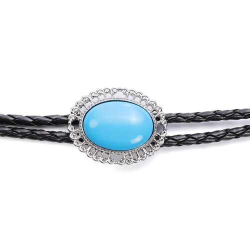 Sleeping Beauty Colour Howlite Bolo Tie Necklace (Size 37) 30.00 Ct