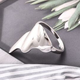 LucyQ Elegant Bent Ring in Rhodium Plated Sterling Silver