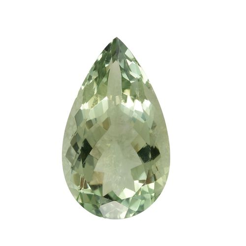 AAA Prasiolite Pear 25x15 Faceted 3A 17.51 Cts