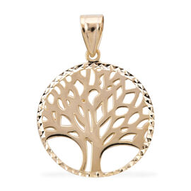 Royal Bali Collection - 9K Yellow Gold Tree of Life Pendant