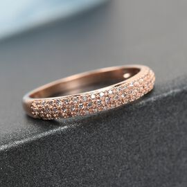 9K Rose Gold Pink Diamond Band Ring 0.25 Ct.