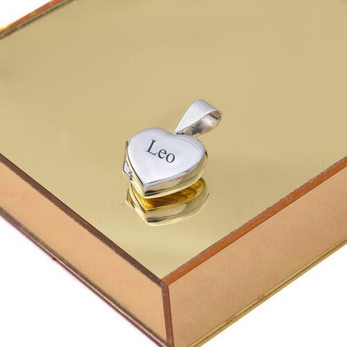 Sterling Silver Heart Locket Pendant, Silver wt 3.00 Gms