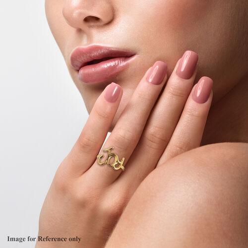 Italian Made- 9K Yellow Gold Joy Ring