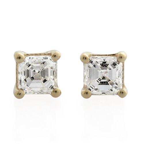 ILIANA 1/2 Carat Diamond IGI Certified (VS/G-H) Stud Earrings (with Screw Back)