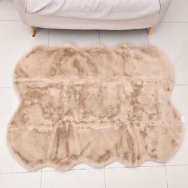 Super Auction - Luxuriously Soft Faux Fur Rug in Beige Colour (Size 100x180 Cm - 70 x 39 inches)