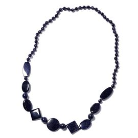 One Time Mega Deal-Blue Sandstone Necklace (Size 30)