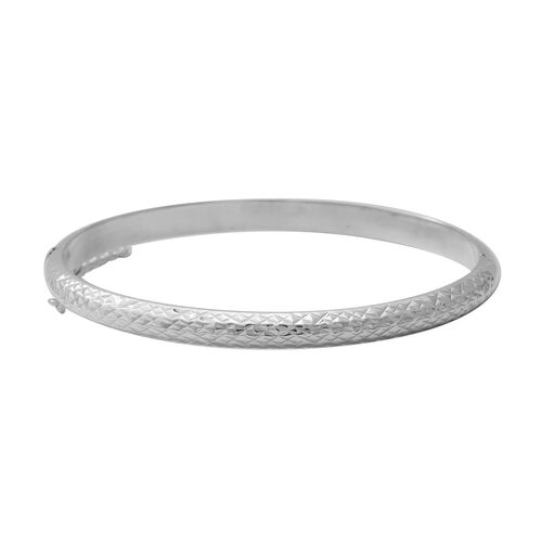 Sterling Silver Diamond Cut Bangle (Size 7.5), Silver wt. 7.80 Gms