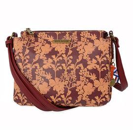 Bulaggi Collection - Marcella Crossbody Bag (Size 22x18x16 Cm) - Burgundy