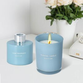 The 5th Season - Gift Box Set of Scented Candle and Diffuser - Blue
