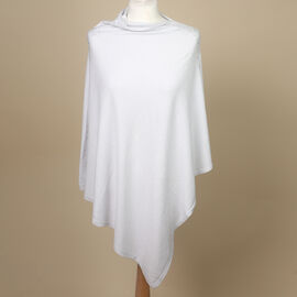 Kris Ana Diamonte Trim Poncho (One Size, Fits Approx 8-18) - Light Grey
