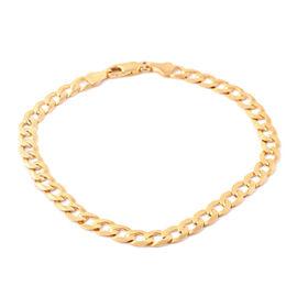 Close Out Deal- 9K Yellow Gold Curb Bracelet (Size 8.5), Gold wt 6.40 Gram