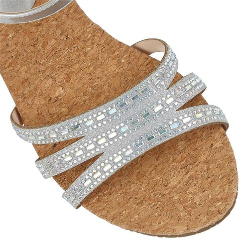 Lotus Mandy Wedge Sandals (Size 4) - Silver