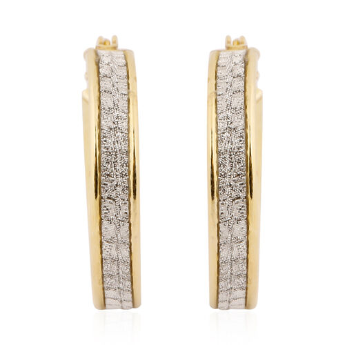 NEW YORK DESIGNER CLOSE OUT DEAL- Simulated Diamond Yellow Gold Overlay Sterling Silver Glitter Creo