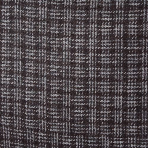 55% Wool Beige and Chocolate Colour Checks Pattern Cushion (Size 43x43 Cm)