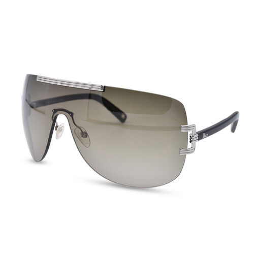 DIOR Graphix Rimless Sunglasses with Grey Lenses